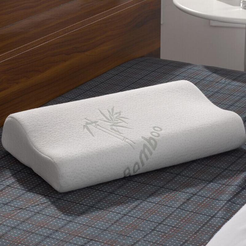 Velvet Memory Foam Pillow Head Neck Back Support Orthopaedic Head Pillow Gray