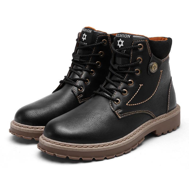 Martin Hombres Zapatos Cuero De Británico Altas Botas Viento rwqxUrT