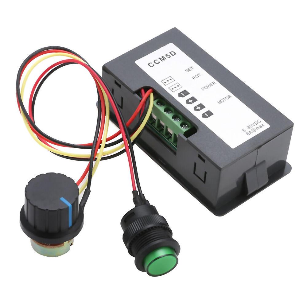 DC 6-30V 12V 24V MAX 8A Motor PWM Speed Controller With Digital Display Switch E