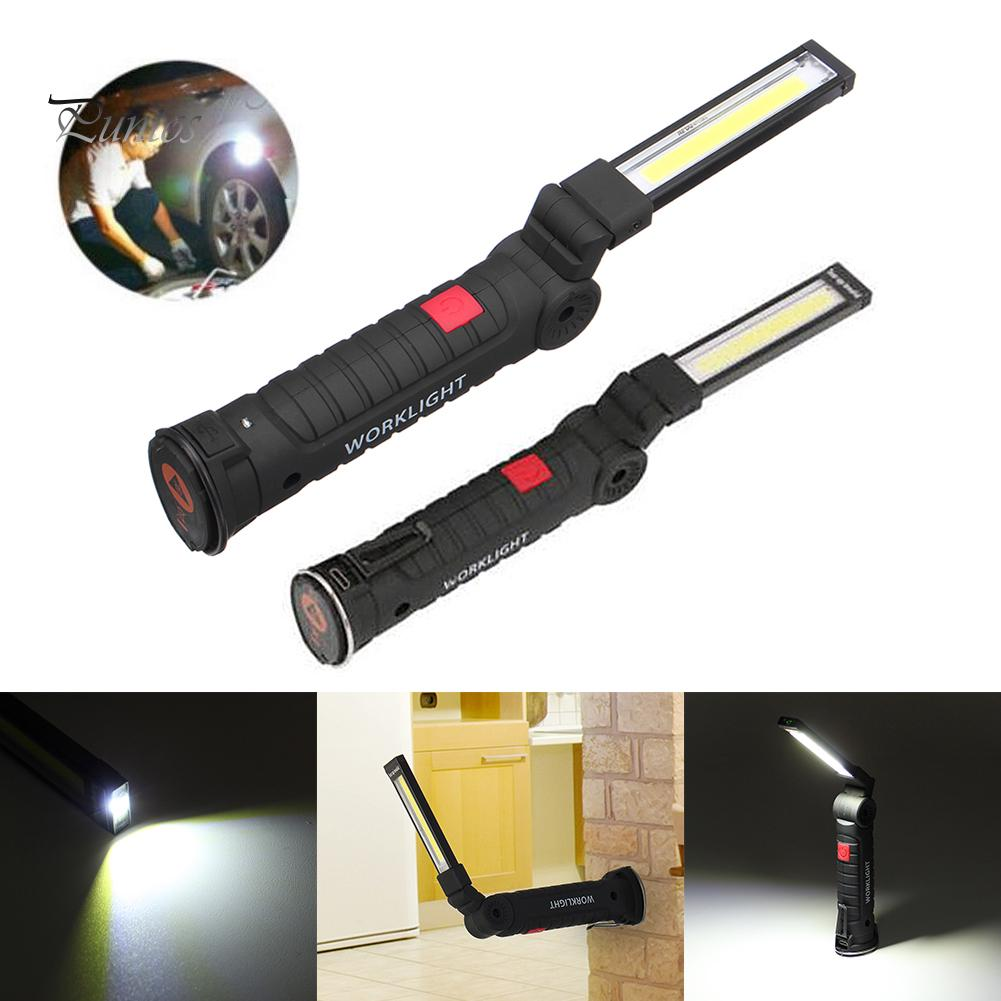 LED COB wiederaufladbare magnetische Taschenlampe Flexible Inspektionslampe