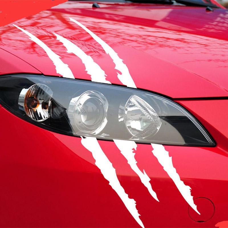 40cmX12cm Смешные автомобиль наклейка отражающей Монстр Царапина Полоса Коготь маркы автомобиля Фары украшения – купить по низким ценам в интернет-магазине Joom