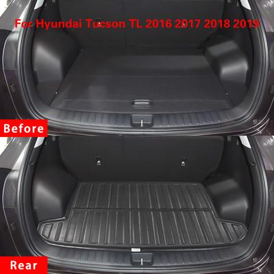 Car Mat Boot Pad Liner Cargo Mat Tray Trunk Floor Protector Mat Rear Trunk Cover for Hyundai Tucson 2016 2017 2018 2019 2020