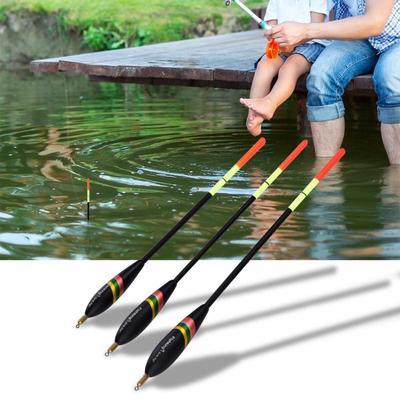 Fishing Float Set 3Pcs 1.5+6g 1.5+5g 1.5+4g Durable Wooden Fishing Floats Bobbers Fishing Tackle Accessory