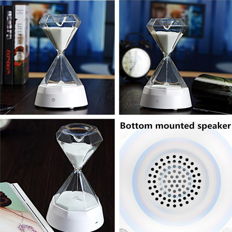 elegantstunning 7Colors Change USB Charging Hourglass Lamp with Music