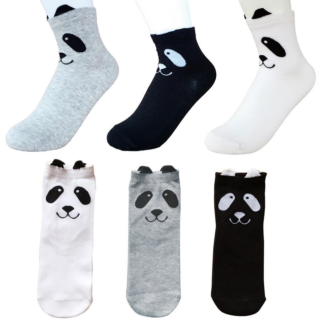 Unisex Spring Autumn Socks Ankle-High 3D Printed Cartoon Panda Socks