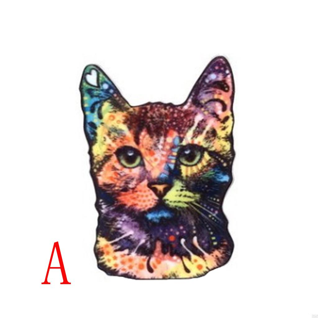 Cat Kitty Kitten Colourful Arcylic Print Large BROOCH Pin Badge Ladies Gift