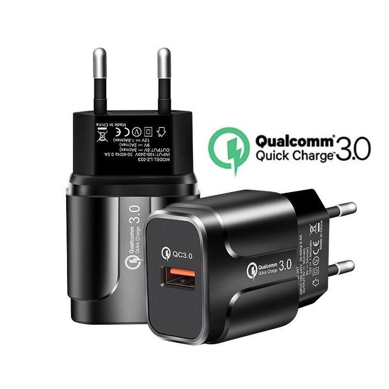 Быстрая зарядка 3.0 18W 3.0 4.0 Быстрое зарядное устройство USB портативное зарядное устройство для зарядки мобильного телефона для iPhone Samsung Xiaomi Huawei