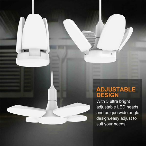 Folding Lamp Ceiling Light 30W//45W//60W E27 LED Bulb Deformable Workshop Fixture