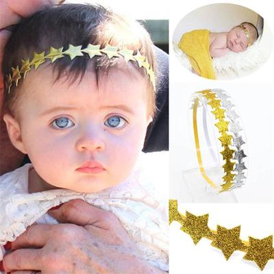 Kids Baby Toddler Newborn Girl Sequin Star Headband Hair Band Bow Accessories