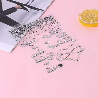 DIY Cookies Silicone Clear Stamp Cling Seal Scrapbook Embossing Album Decor