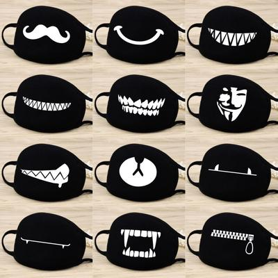 1PC Personality Antidust Face Mask Mouth Muffle 3D Print Cartoon