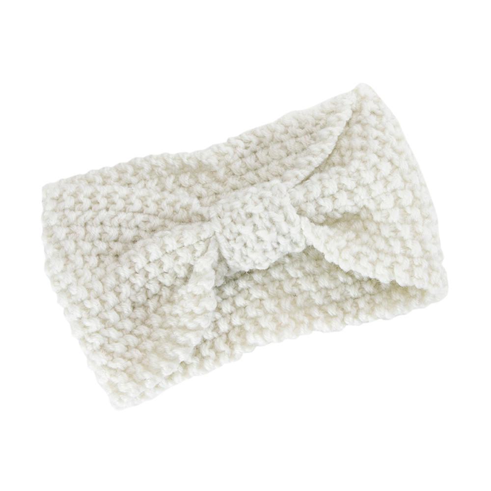 Mujeres pelo bola tejer diadema elástica arco hecho a mano diseño ...