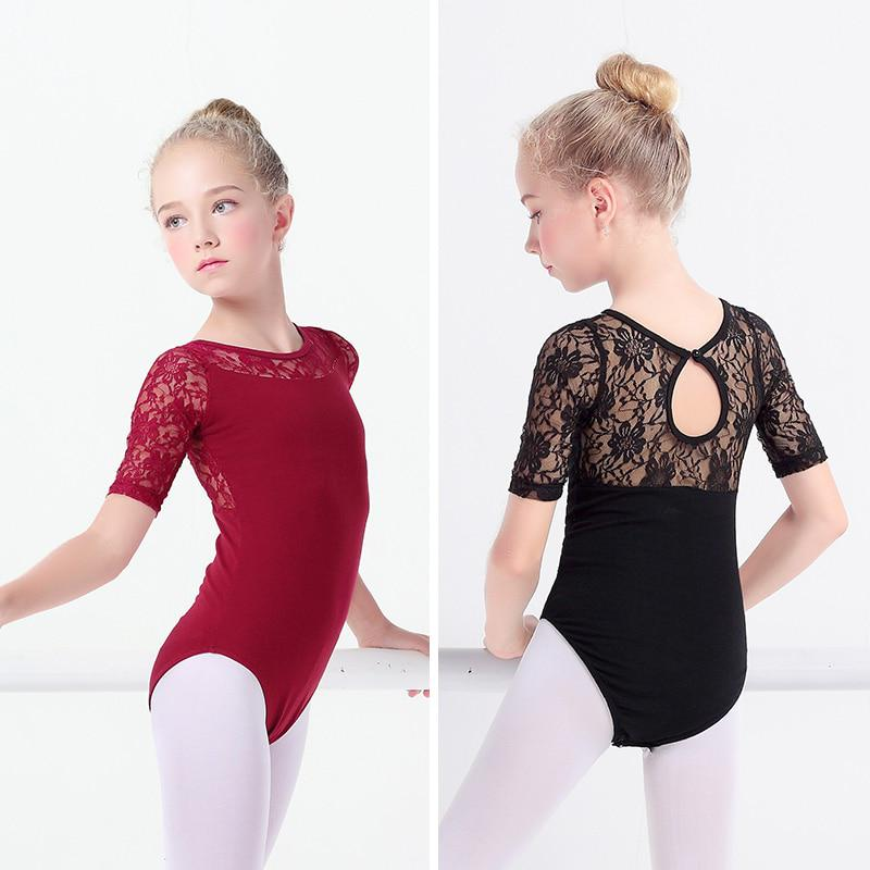 Kids Ballet Gymnastics Leotard Girls Sleeveless Lace Back Dancewear Age 8 to 15Y