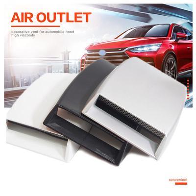 2x Fashion Car 3D Simulate Air Flow Decor Intake Hood Scoop Bonnet Vent Cover PF