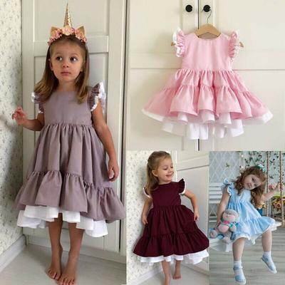 Toddler Kids Baby Girls Princess Pageant Party Dress Summer Sundress Clothes