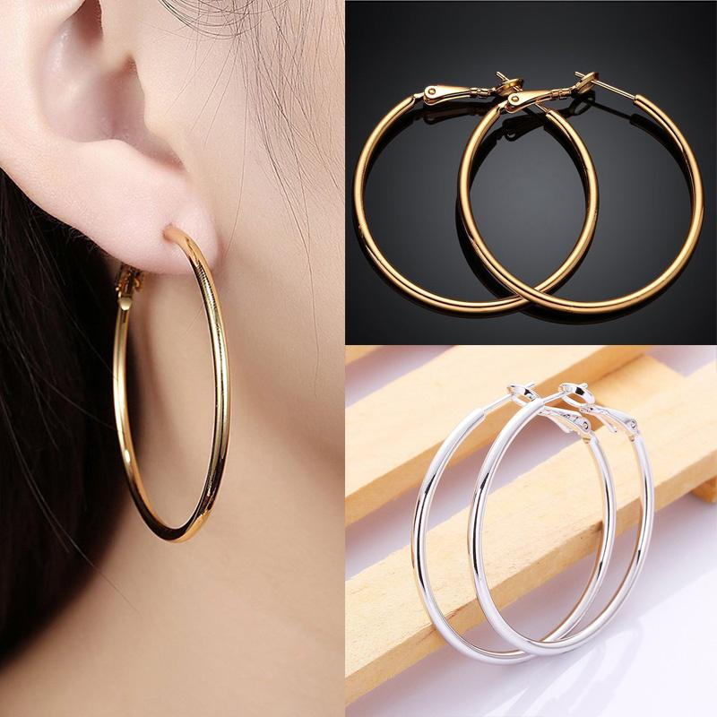 25be82dcb Hanyu Women Fashion Round Earrings Simple Exaggerated Large Circle ...