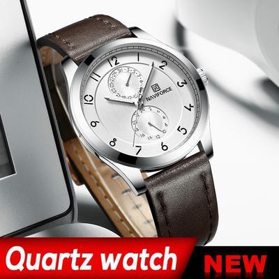 Mens Luxury Brand Waterproof Quartz Date Clock Slim Leather Strap Fashion Watch Sport Wristwatch