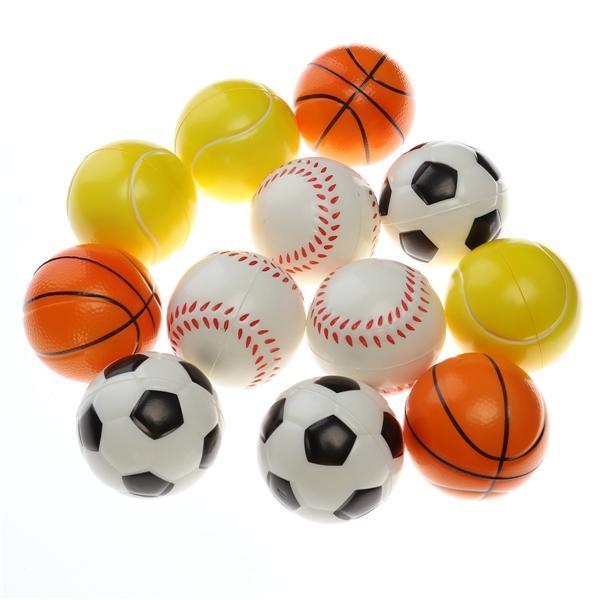 12 deportes de espuma Soft de PC bolas Fútbol Baloncesto béisbol ... 0cfc0824f7f89