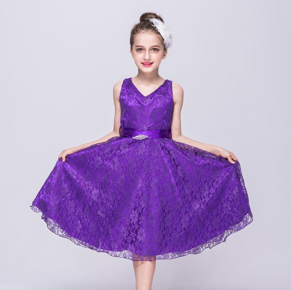 Vestido de niña de las flores desfile niños cumpleaños boda vestido ...