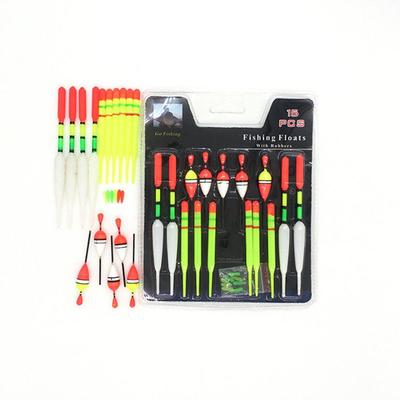 Popular 15 Pieces Assorted Course Carp Fishing Float Tackle Set /& Rubbers Hot