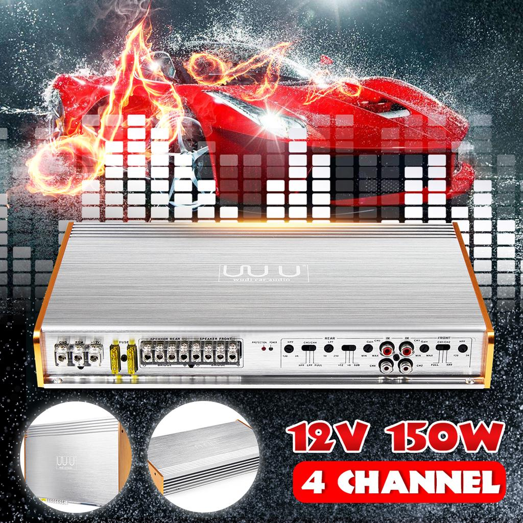 4 Channel Class AB Car Power Amplifier Bridge Connection Bass Audio