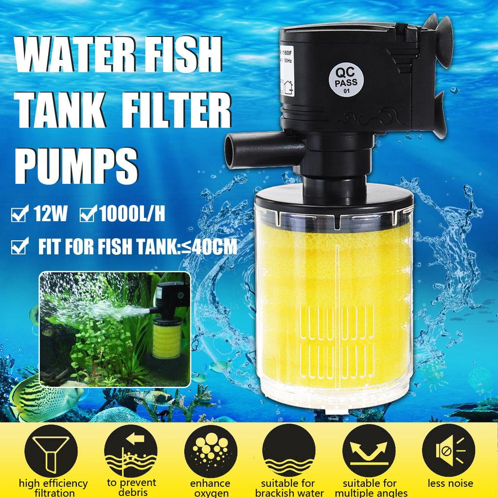 Aquarium Water Fish Tank 12w 1000l H Submersible Internal Filter Pump For Pond Home Multifunction Buy At A Low Prices On Joom E Commerce Platform