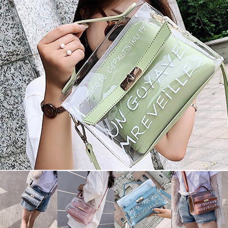 Женские прозрачные желе сумка сумка цепи сумка мешок Pvc – купить по низким ценам в интернет-магазине Joom