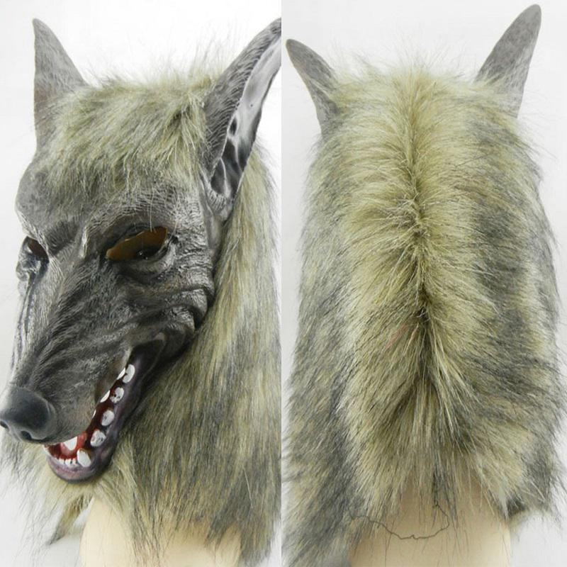 Scary Animal Halloween Masks.Buy Wolf Simulation Headwear Halloween Cosplay Werewolf Scary Horror Animal Head Wigs Full Face Mask At Affordable Prices Price 8 Usd Free Shipping Real Reviews With Photos Joom