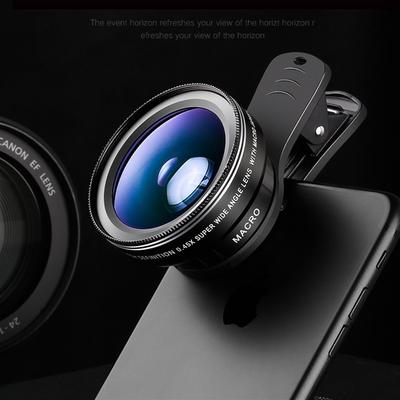 3 In1 Mobile Phone Camera Lens Kit Fish Eye Lens Super Wide Angle Lens with Universal Phone Clip