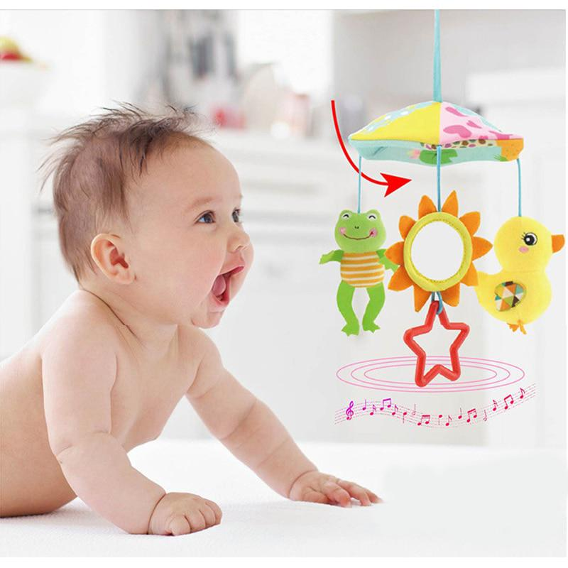 Baby Stroller Crib Pram Bed Hanging Toy Accessories Musical Rotating Plush