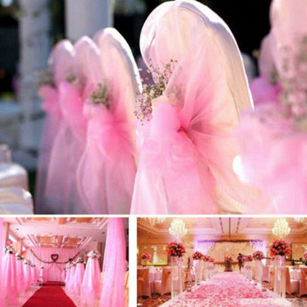 5m Кристалл Tulle Fabric Органза DIY Ремесло для свадебной вечеринки Красивые романтические украшения поставок