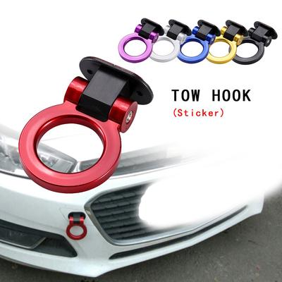 Universal ABS Ring Racing Style Car Bumper Trailer Tow Hook Decoration Sticker3