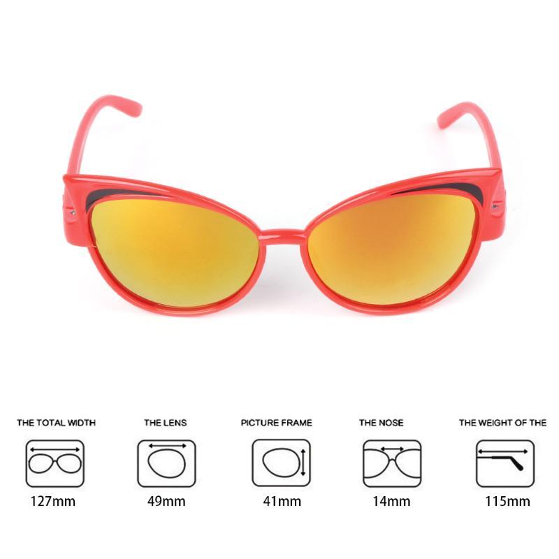 Kids Sunglasses Children Reflective Random Color PC Fashion UV400 Colorful Gifts