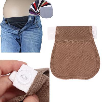 18ffe6f1a Maternidad embarazo Easy Fit pantalones botones cintura Dropshiping embarazada  del extensor cinturón extendido