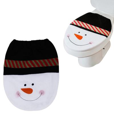 1 PC Santa Toilet Seat Cover Toilet Lid Xmas Christmas Decoration ...
