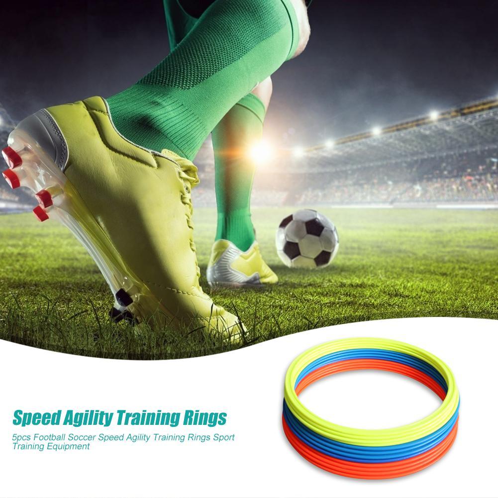 5pcs Football Soccer Speed Agility Training Rings Sport Training Equipment