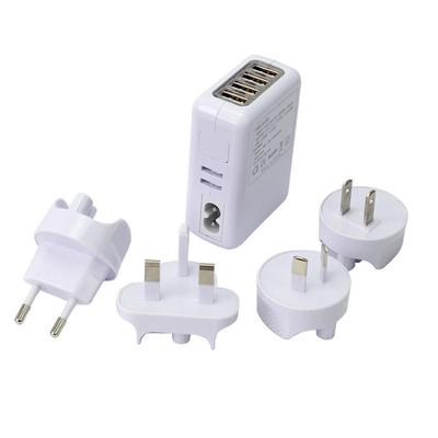 Compact DC 5V 2.1A 4 Ports USB Home Travel Wall Charger AC Adapter 4 Plugs