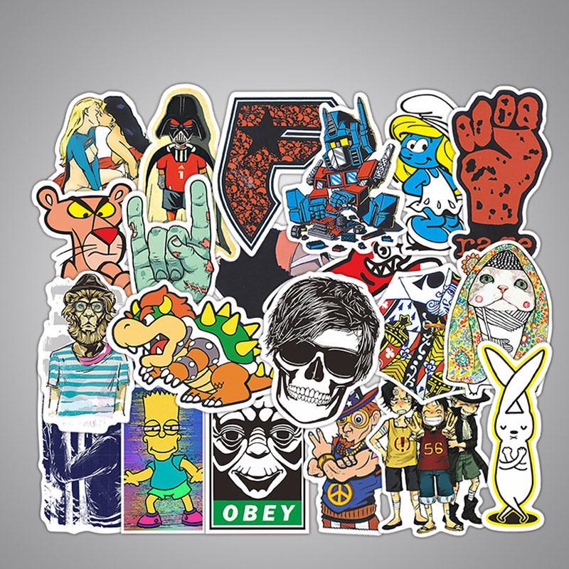 100pcs Cool Vinyl Graffiti Sticker Bomb Skate Laptop PVC Stickers Car Decal Gift