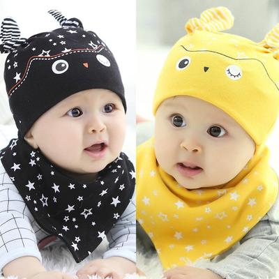 ae92d031c5e Baby Boy Girl Hat Cap+Saliva Towel Triangle Head Scarf Set Toddler Costume