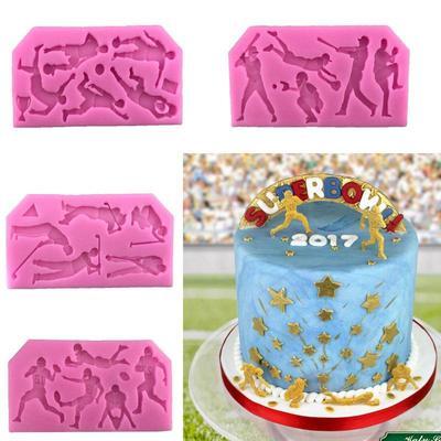 Sport Fondant Cake Molds Chocolate Mould Kitchen Baking Sugarcraft Decoration Tool