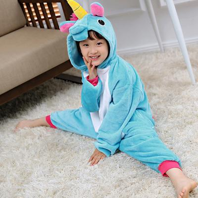 Children's Sleepwear for Boys Girls Flannel Children's Outfit Animal Conjoined Pajamas