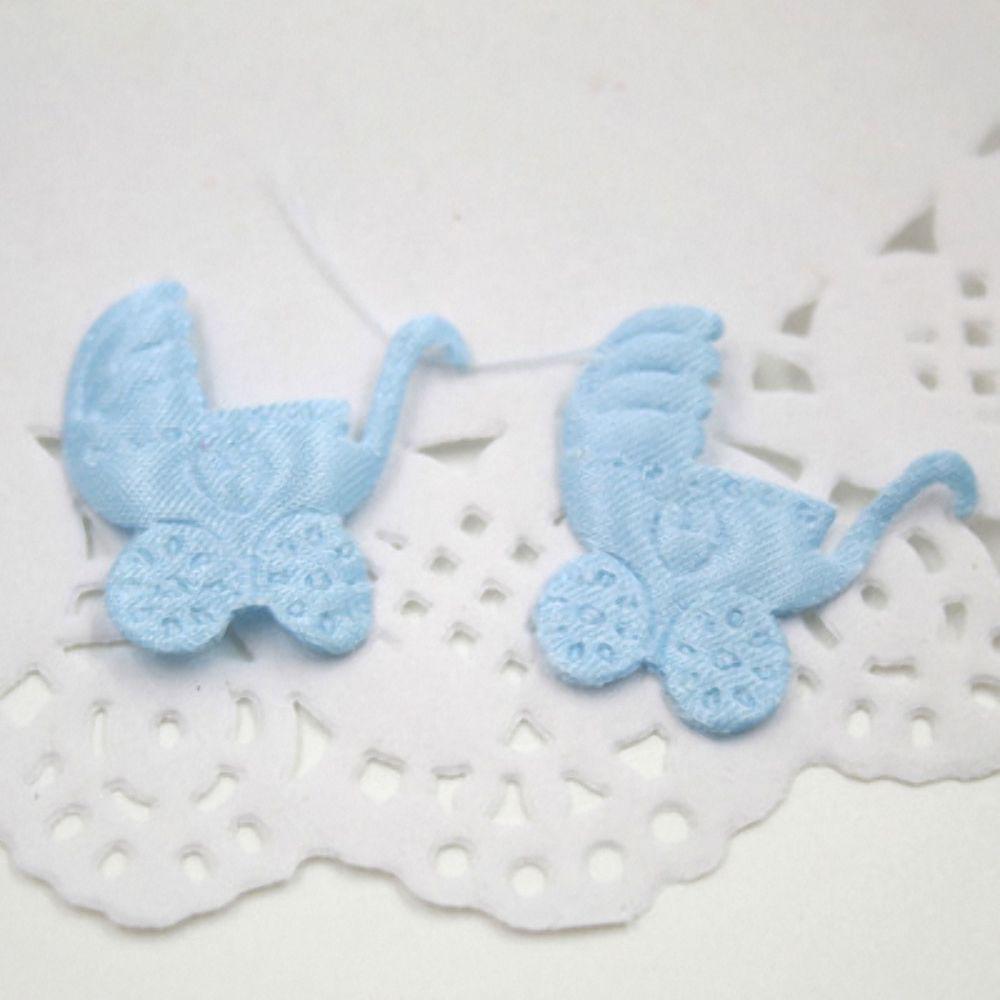 100 Pcs Baby Shower Confetti Cart Bib Footprint Boy Girl Baptism Party Supplies