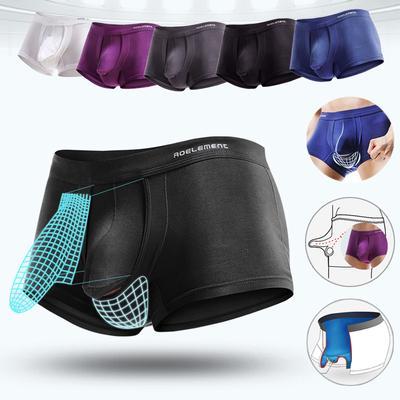 Mens Boxer Briefs Inderwear Featured U Pouch Design Comfortable Breathable Fashion Underpants