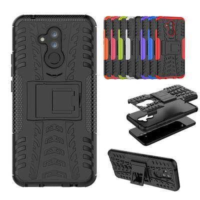 High Quality Colorful TPU Shockproof Case for Huawei LG Dazzle Grain Bracket Drop Protective Cover