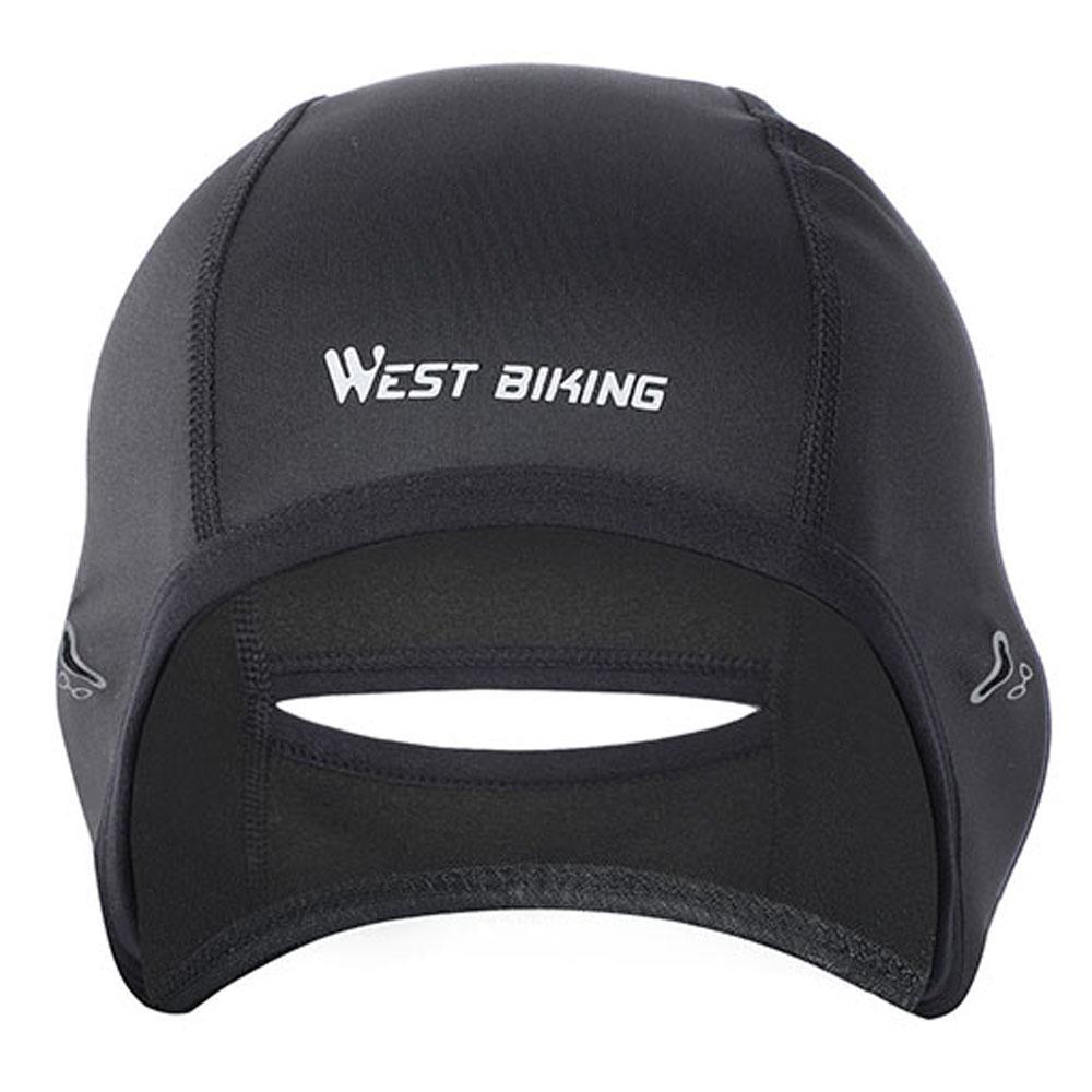 WEST BIKING Cycling Caps Winter Warm Fleece Hats Thermal Bicycle Headwear
