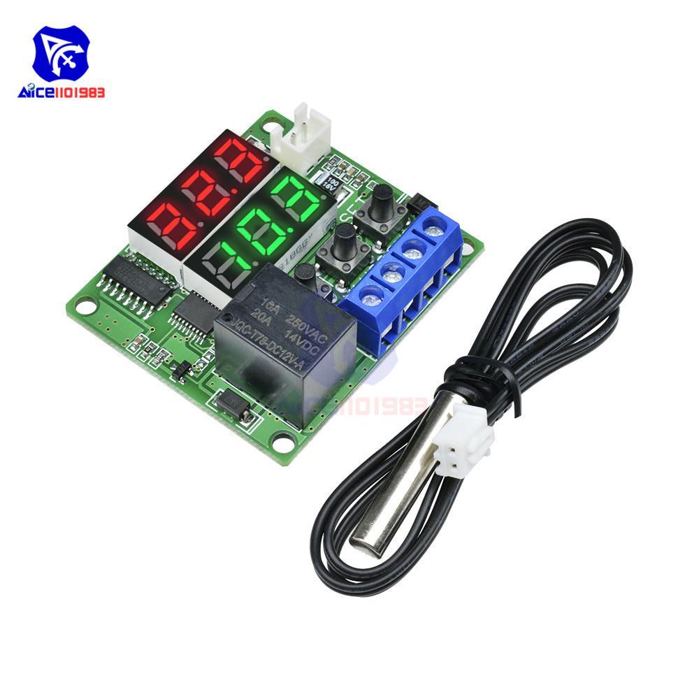 1pc 12V LED Digital Thermostat Temperatur Steuerung Sensor Relais 79x43x26mm