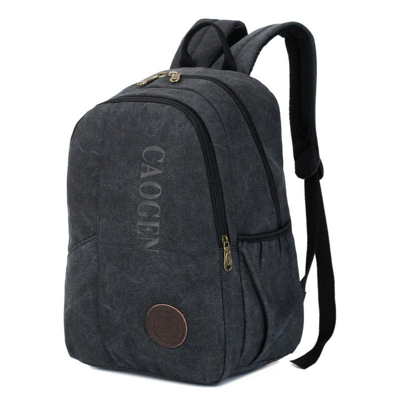 Leisure Sports Men//Women Backpack Waterproof Zipper Genuine Leather Retro Outdoor Travel Shopping Black Large Capacity Portable Backpack
