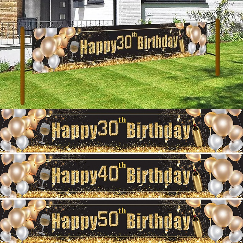60th Birthday Banner 30th40th50th60th Birthday Decoration 70th birthday bunting Anniversary banner Anniversary Banner