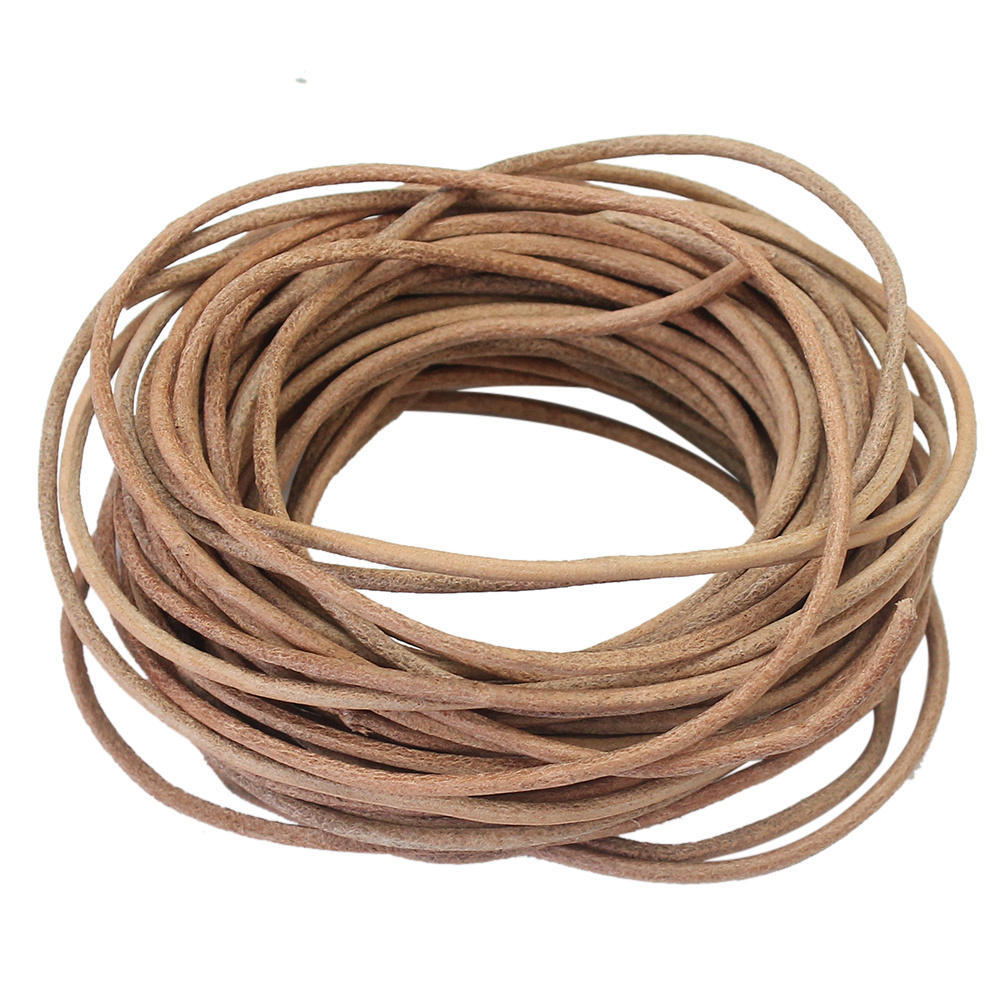 2Pcs 2mm x 5m Leather Cord Suede String for Necklace Bracelet DIY Findings