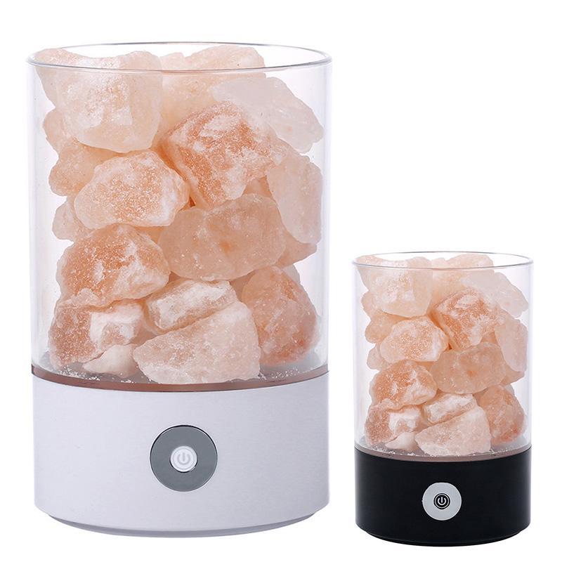 Salzlampe gesundheit klein mineral negative ionen steinlava nacht- licht  für schlafzimmer büro